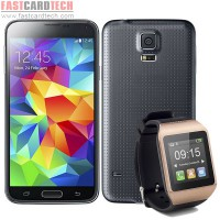 HDC Galaxys S5 Lte- MTK6582 Quad Core 1.3Ghz 5.1 IPS Screen Android 4.4.2 Phone