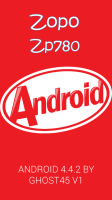 New KitKat Rom V1 for zp780 By Ghost45