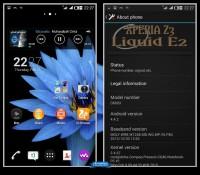 Liquid E2 Xperia Z3 Styles v3.0
