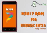 MIUI 7 Custom ROM for Micromax Unite 2 (A106)