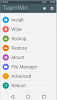 recovery TWRP (material theme)