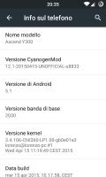 CyanogenMod 12.1 for Huawei Y300