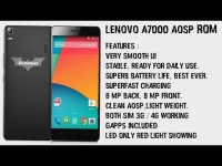 ROM ANDROID AOSP LENOVO A7000 Greek developer!