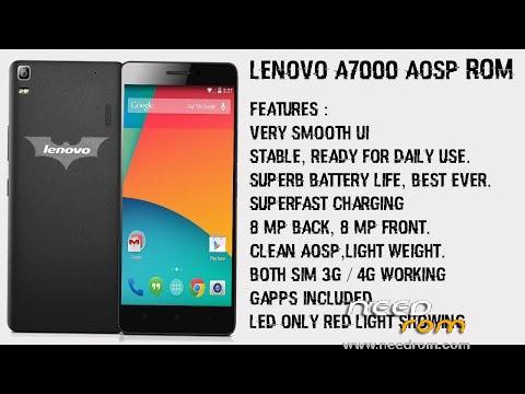 ROM ROM ANDROID AOSP LENOVO A7000 Greek developer! | [Custom] add