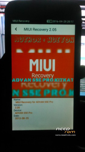 ROM NEW Release MIUI Recovery For ADVAN S5E PRO KITKAT