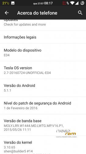 ROM TeslaOS (MT6753)   [Custom] add the 07/27/2016 on Needrom