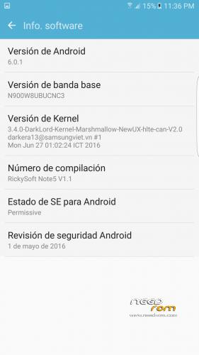 ROM Galaxy Note 3 N900W8 (Port Note 5 SM-N920C) CSC Movistar y