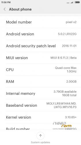 ROM Miui 8 (v6 11 3) For Lava Pixel V2 | [Custom] add the 11/25/2016
