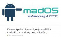 madOS –Android 7.1.1 –18.03.2017 –Stable 3