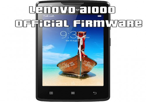 Firmware Lenovo A1000 « Needrom – Mobile