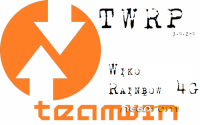 WIKO RAINBOW 4G – TWRP 3.0.2-2 – MULTILANGUAGE -