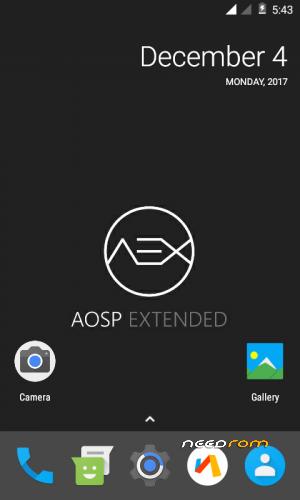 ROM AOSP Extended v4 6 by Venkat aj | [Custom] add the 12/12/2017 on