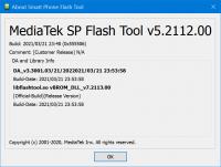 SP Flash Tool v5.2112